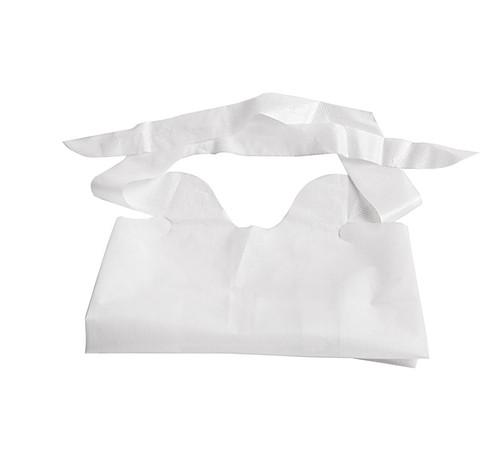Waterproof Plastic Bibs, White