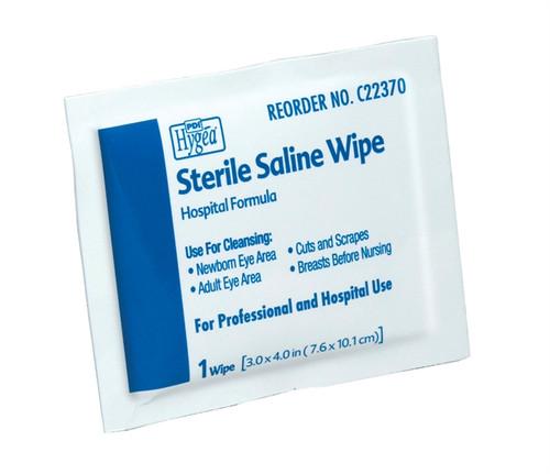 Sterile Saline Wipes