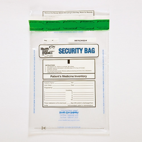 Patients Clear Medicine Bag