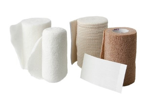 Layer Compression Bandage System FourFlex Yard High Compression Self-adherent / Tape Closure Tan / White NonSterile
