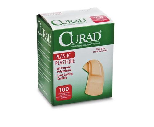 CURAD Plastic Adhesive Bandages, Natural
