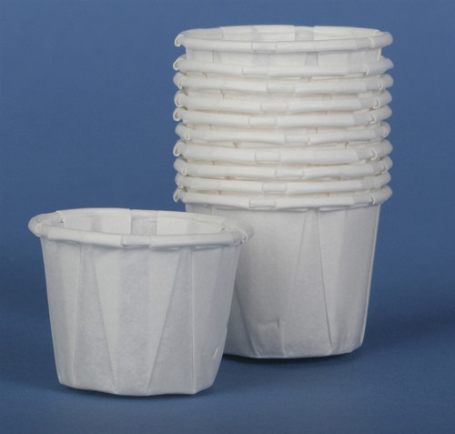Disposable Paper Souffle Cups, White