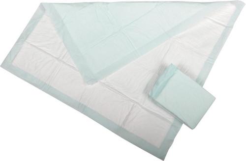 Medline Disposable Polymer Underpads, Green
