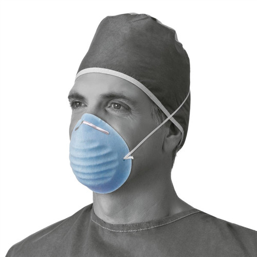 Surgical Cone-Style Face Mask, Blue