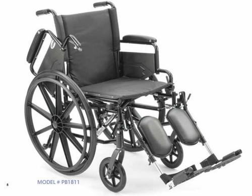 ProBasics K4 Wheelchair with Elevating Legrests 18x16 - PB1811