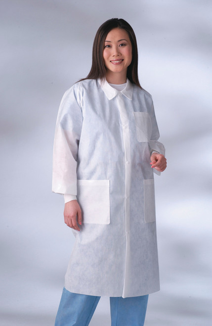 Classic Lab Coats with Knit Cuffs