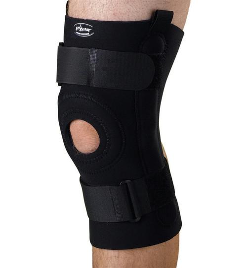 U-Shaped Hinged Knee Supports, Black