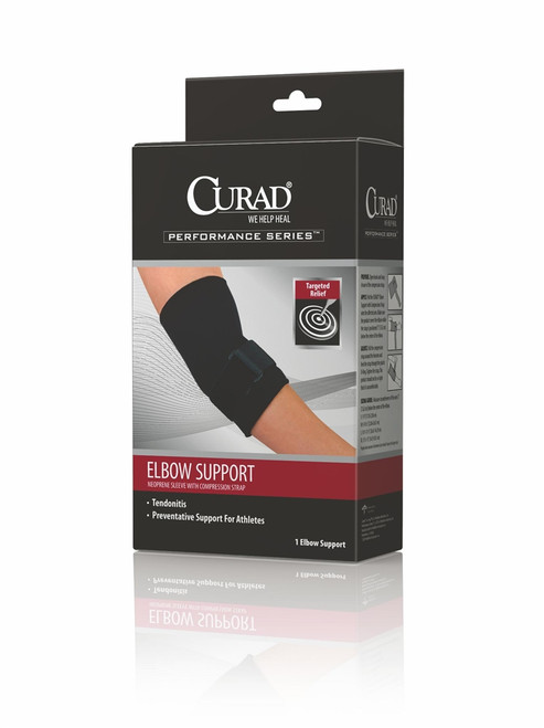 Curad Elbow Sleeve with Compression Straps