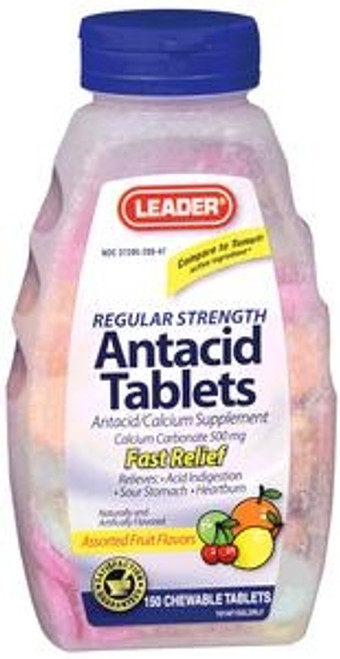 Leader Antacid Chewable Fruit Tablets (150 Count) - Item #: PH1783489