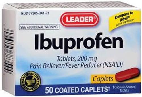 Leader Ibuprofen Caplets, 200 mg (50 Count) - Item #: PH1783547
