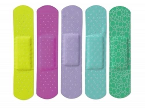 CURAD Neon Adhesive Bandages, Natural