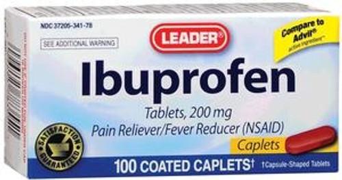 Leader Ibuprofen Caplets (100 Count) - Item #: PH1783554