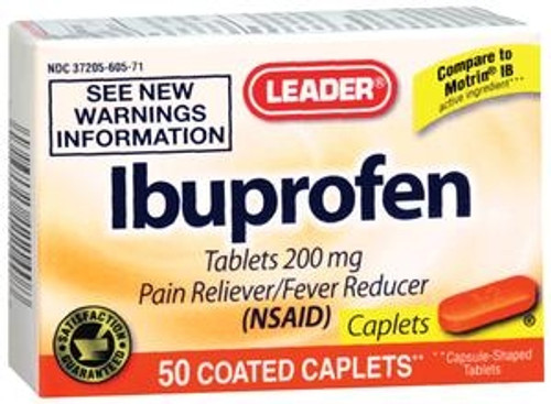 Leader Ibuprofen Orange Caplets (50 Count) - Item #: PH3424504