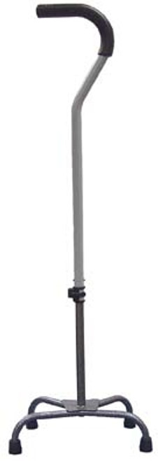 Large Base Quad Cane with Tab Lock Silencer and Triangular Padded Hand Grip