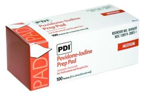 pdi pvp iodine prep pads- medium