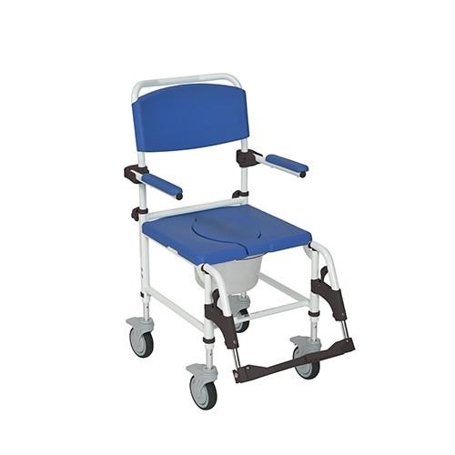 Aluminum Shower Commode Transport Chair