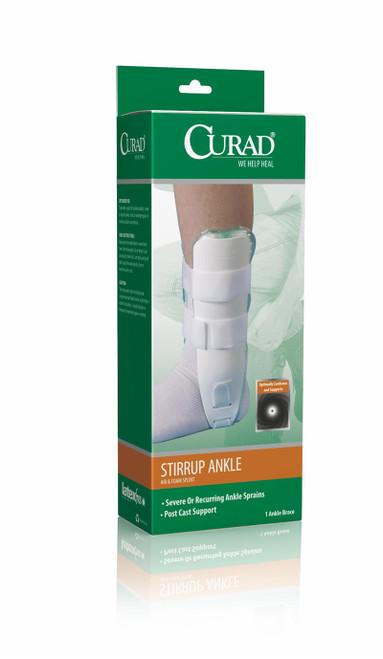 CURAD Universal Stirrup Ankle Splints, White, Universal