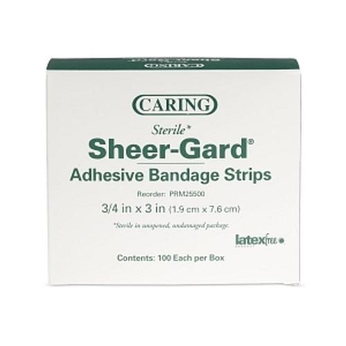 Caring Plastic Adhesive Bandages, Natural