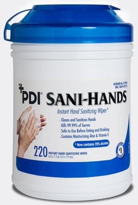 Sanitizing Skin Wipe Sani-Hands Canister Alcohol (Ethyl) Unscented