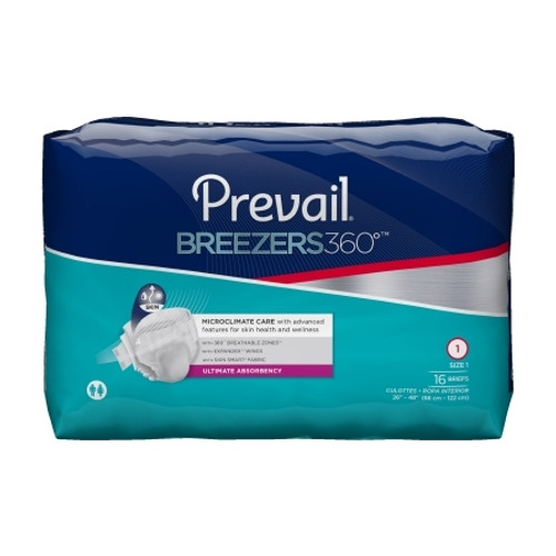Adult Incontinent Brief Prevail Breezers 360 degree Tab Closure Disposable Heavy Absorbency
