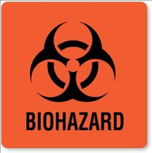 United Ad Label Biohazard Warning Label