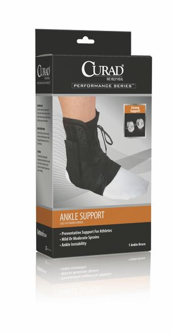 CURAD Lace-Up Ankle Splints, Black