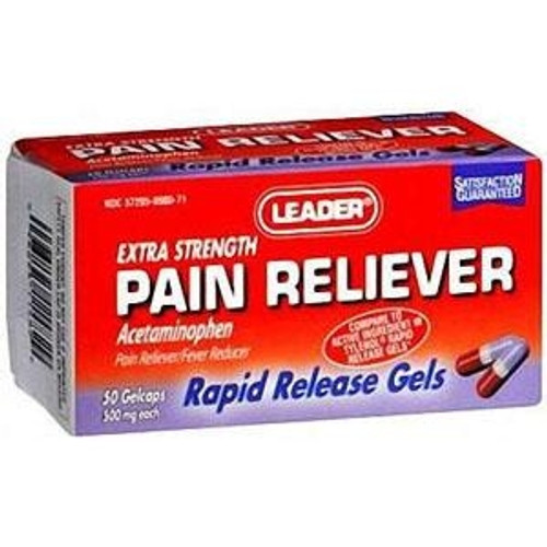 Leader Pain Relief Gelcaps 500 mg (50 Count) - Item #: PH3956778