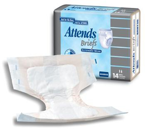 Attends Extended Wear Breathable Briefs