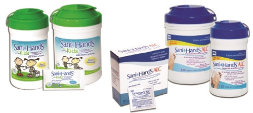 Professional Disposables Sani-Hands Sanitizing Skin Wipe 1