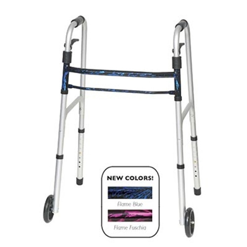 ProBasics Sure Lever Release Folding Walker with Wheels - Carton of 4 - PB1085BL
