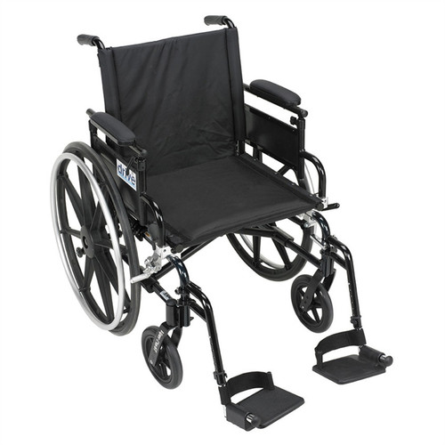 Viper Plus GT Wheelchair with Flip Back Adjustable Height Arms with Various Front Rigging