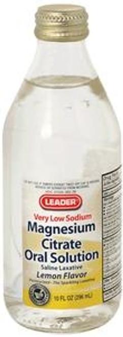 Leader Citrate of Magnesia Solution, 10 oz., Lemon - Item #: PH2582450