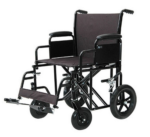 ProBasics Heavy-Duty Transport Wheelchair - Black - PB9500BK