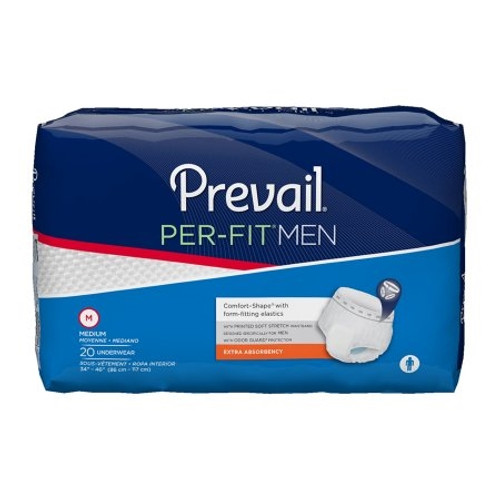 Adult Absorbent Underwear Prevail Per-Fit Men Pull On Disposable Moderate Absorbency