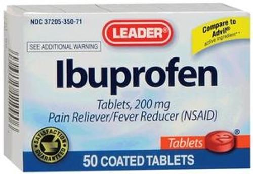 Leader Ibuprofen Tablets (50 Count) - Item #: PH1110907