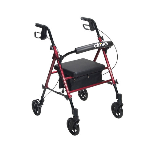 """Adjustable Height Rollator with 6"""" Wheels"""