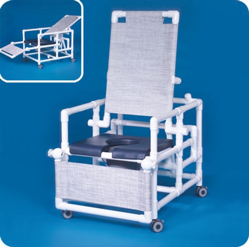 Deluxe Reclining Shower Chair Commode - SCC260RCOSN