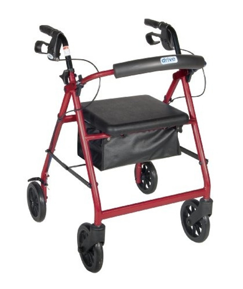 "Drive Aluminum Rollator w/Padded Seat & 7.5""; Casters"