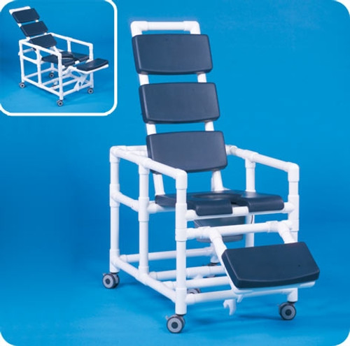 Super Deluxe Reclining Shower Chair Commode - SCC280RCN