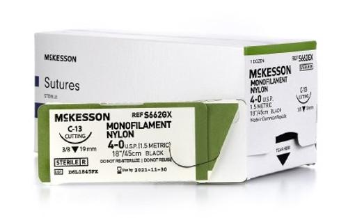 McKesson Nonabsorbable Black Monofilament Nylon uncoated