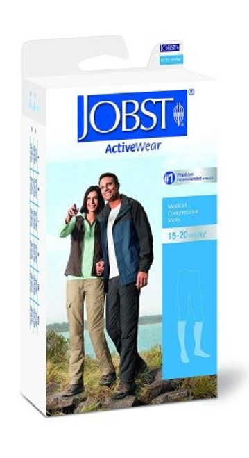 Compression Socks Activewear Knee High White Closed Toe