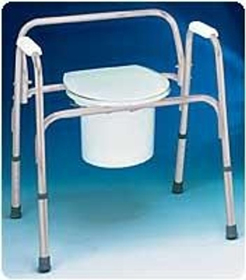 Extra-Wide Bedside Steel Commode