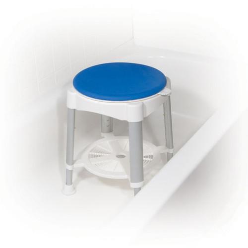 Bath Stool with Padded Rotating Seat