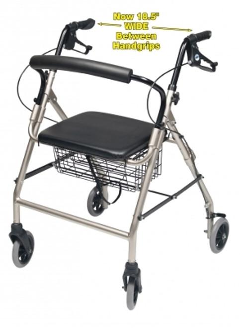 Walkabout Wide Four-Wheel Rollator