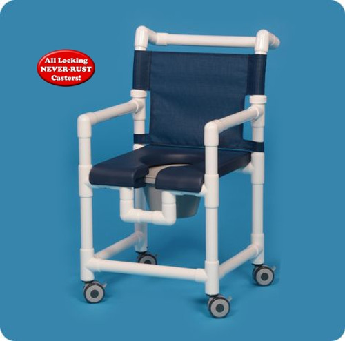 Deluxe Shower Chair Commode - SC717P