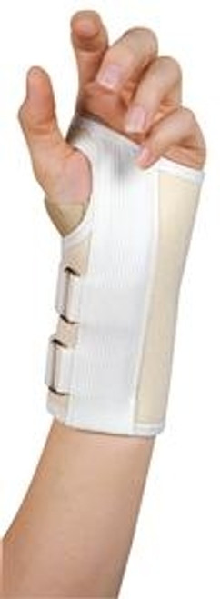Leader Deluxe Carpal Tunnel Wrist Support, White, Small/Left - Item #: SS4915047