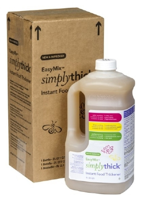 Food and Beverage Thickener SimplyThick Easy Mix 2 Liter Pump Bottle Unflavored Gel Honey / Nectar / Pudding Consistency