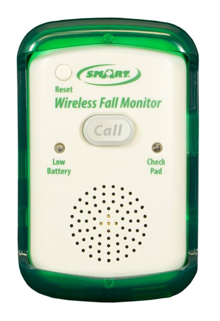 Wireless Fall Monitor with call button, status light, low battery and pad lost alerts, caregiver key, adjustable tone and volume, protective cover and strap (resident wireless call button sold separately, item code TL-2016NC) - 1 year warranty