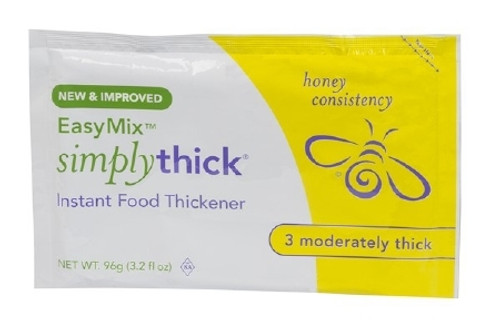 Food and Beverage Thickener SimplyThick Easy Mix 96 Gram Individual Packet Unflavored Gel Honey Consistency