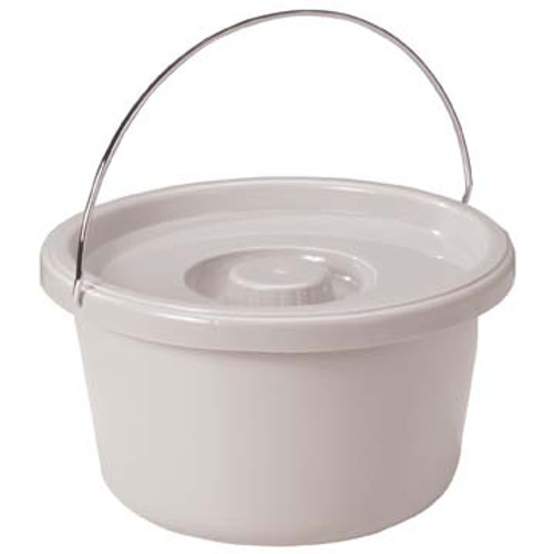 Commode 7.5 Quart Bucket with Handle and Cover